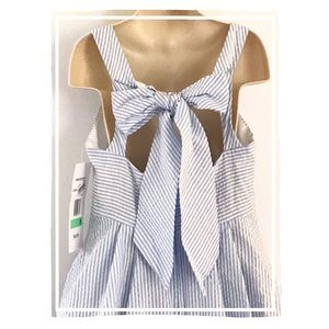 Rare Editions Bow Back Spring Dress (Size 8)